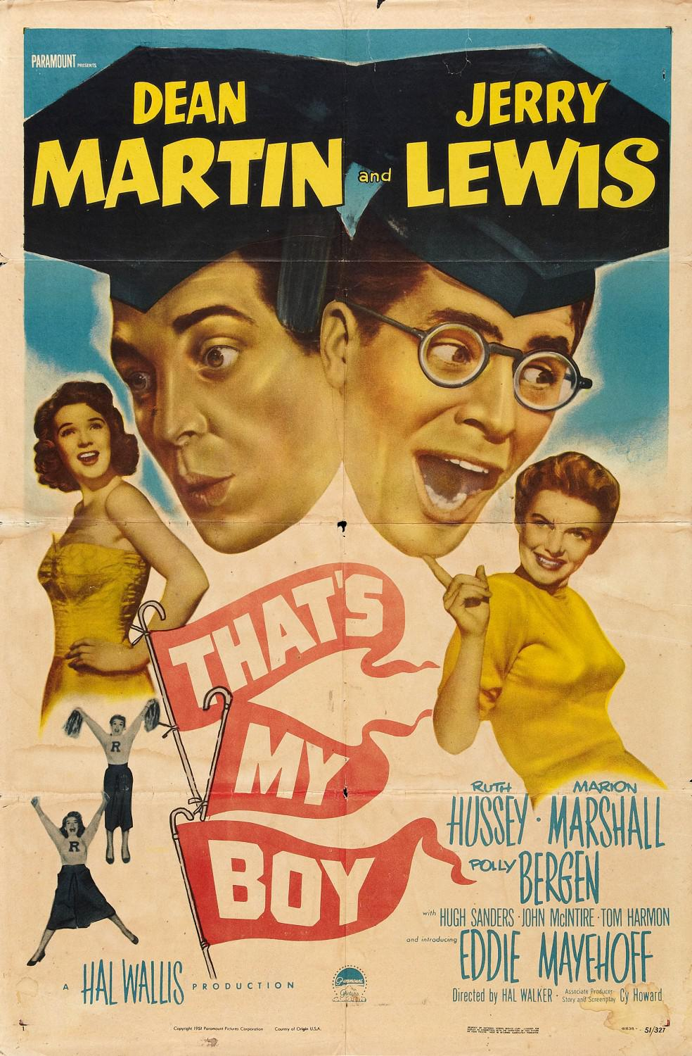 Thats my Boy - Dean Martin - Jerry Lewis - old poster