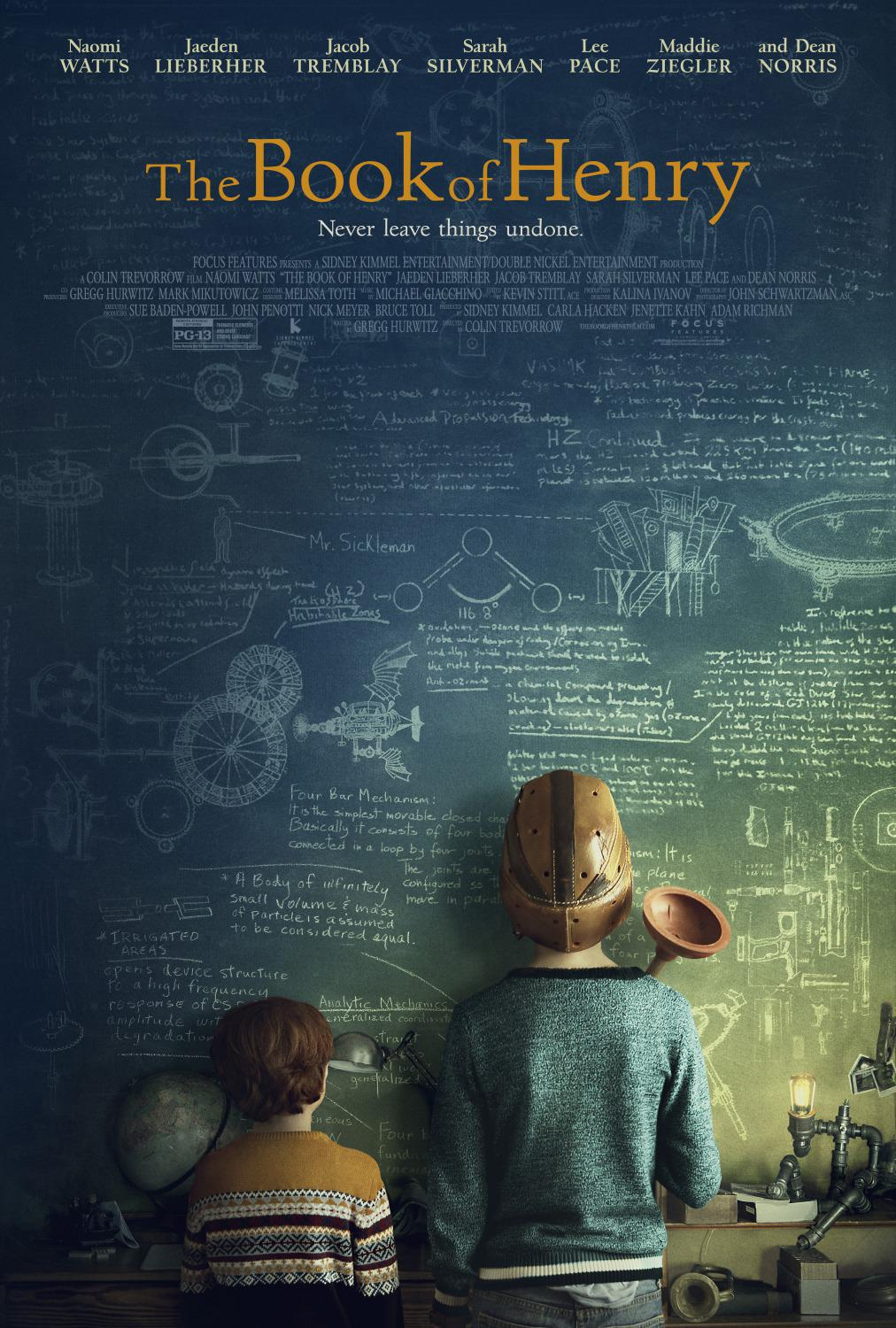 The Book of Henry - Il Libro di Henry - Naomi Watts - Jaeden Lieberher - Jacob Tremblay - Sarah Silverman - Lee Pace - Maddie Ziegler - Dean Norris