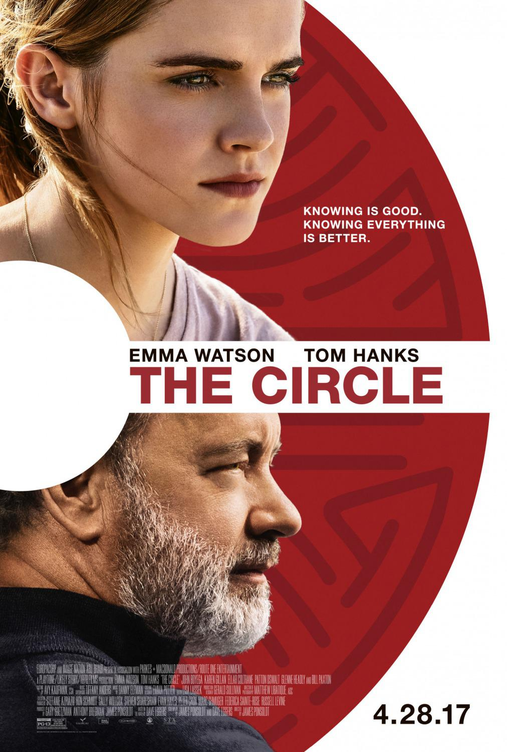 The Circle - Emma Watson - Tom Hanks - poster