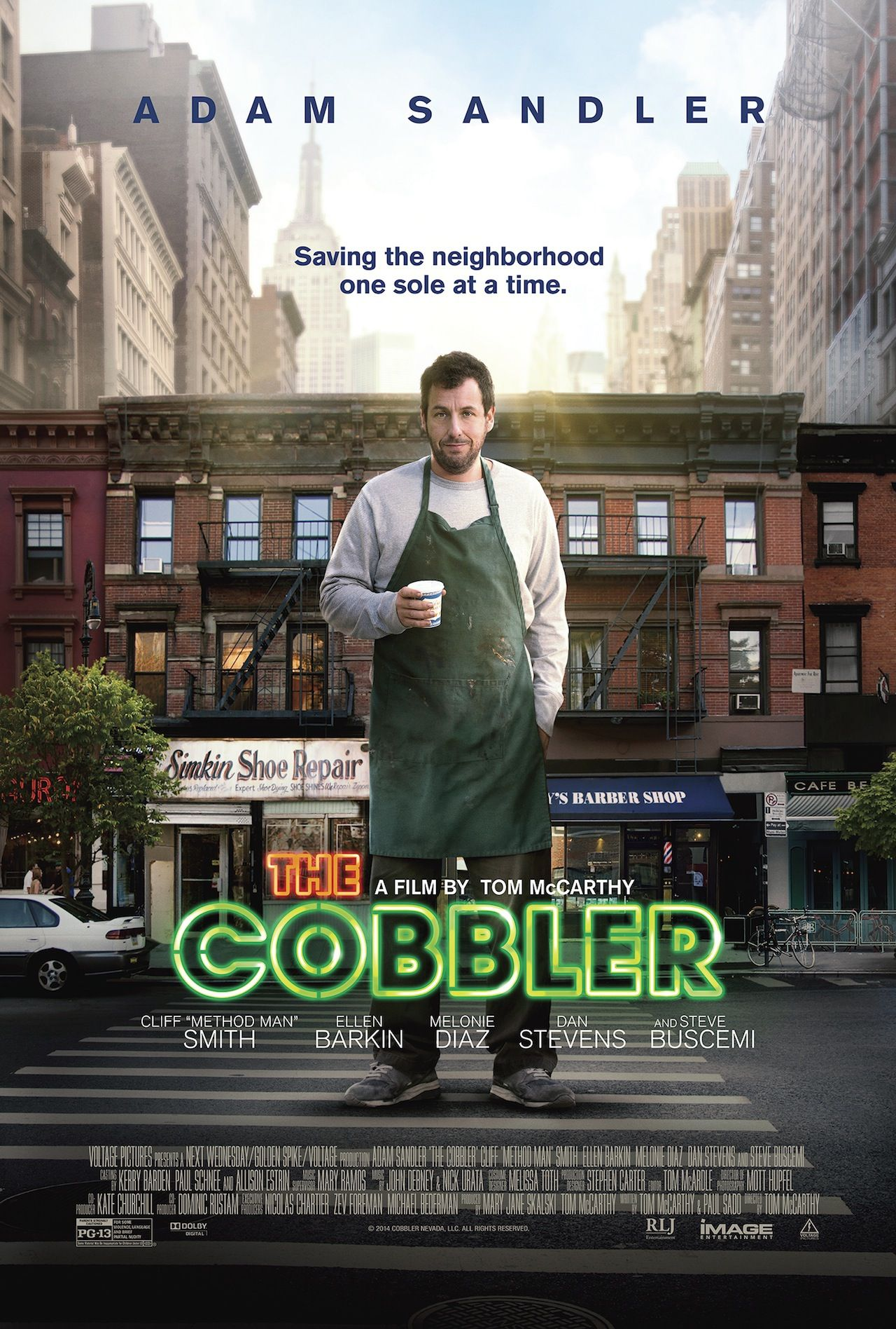 Mr Cobbler e la bottega magica (The Cobbler) - poster - Adam Sandlers