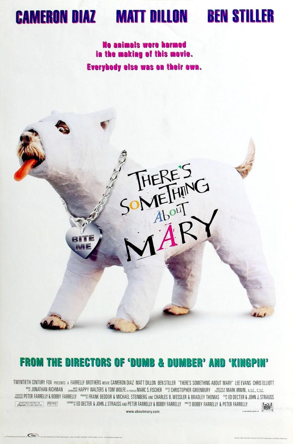 Tutti Pazzi per Mary - Theres something about Mary - Cameron Diaz - Matt Dillon - Ben Stiller - poster