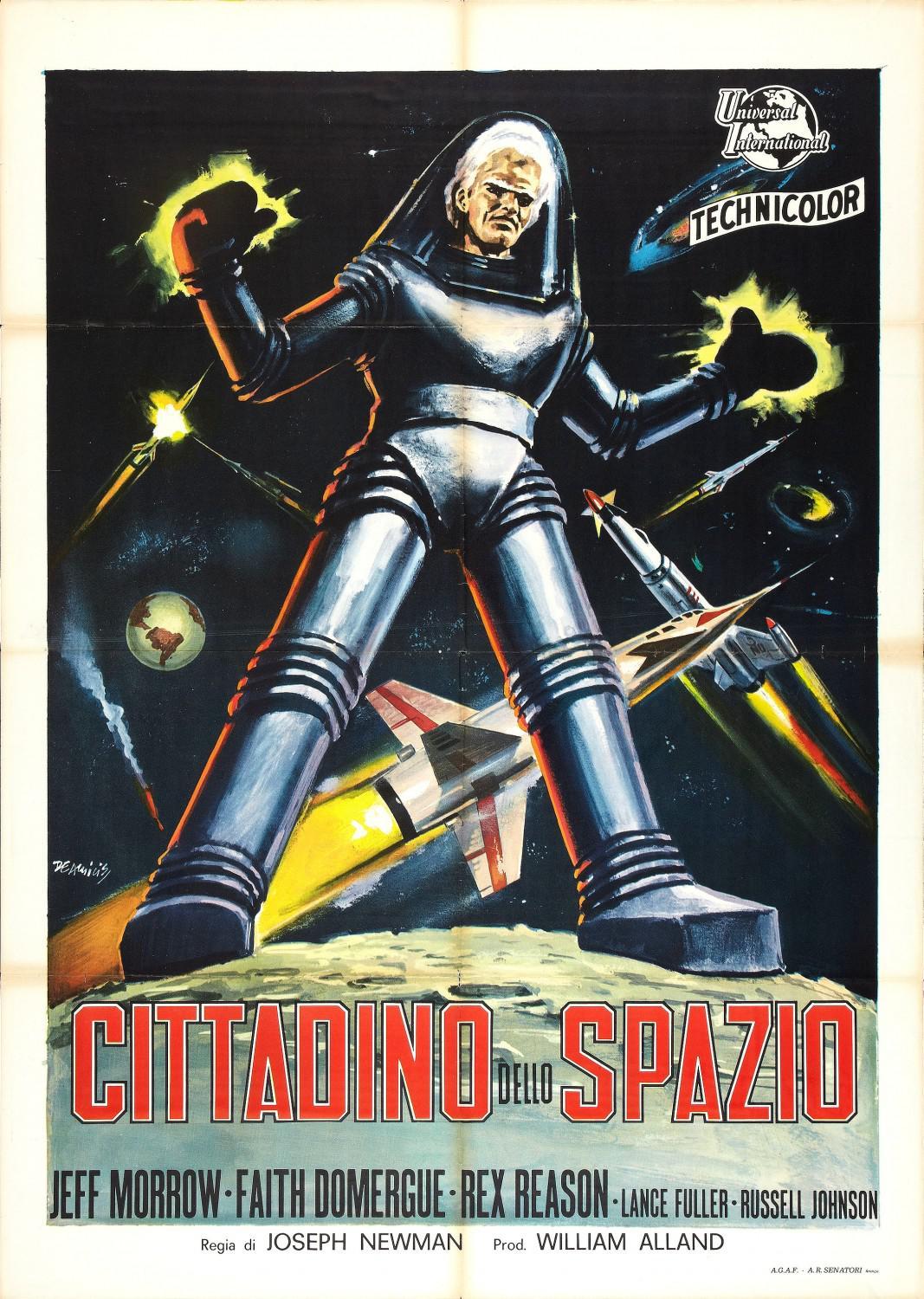 This Island Earth - Cittadino dello Spazio - Metaluna 4 - Two mortals trapped in outer space, changeling the unearthly furies of an autlaw planet gone mad - Feff Morrow - Faith Domergue - Rex Reason - alien old scifi film poster