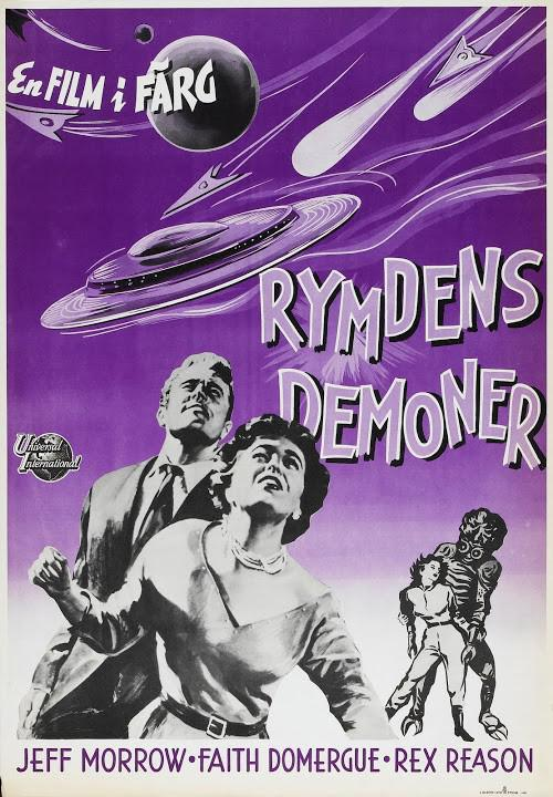 This Island Earth - Cittadino dello Spazio - Metaluna 4 - Two mortals trapped in outer space, changeling the unearthly furies of an autlaw planet gone mad - Feff Morrow - Faith Domergue - Rex Reason - old scifi film poster - Rymdens Demoner