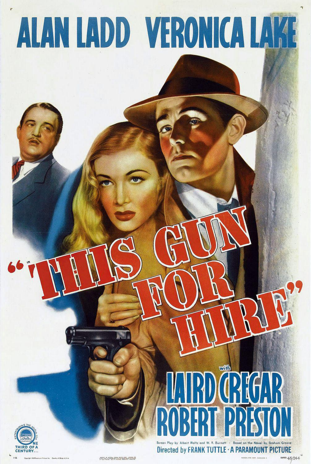 This gun for hire - Alan Ladd - Veronica Lake