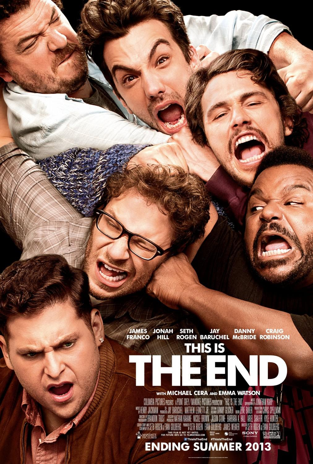 This is the end - Questa è la fine - James Franco - Jonah Hill - Seth Rogen - Jay Baruchel - Danny McBride - Craig Robinson