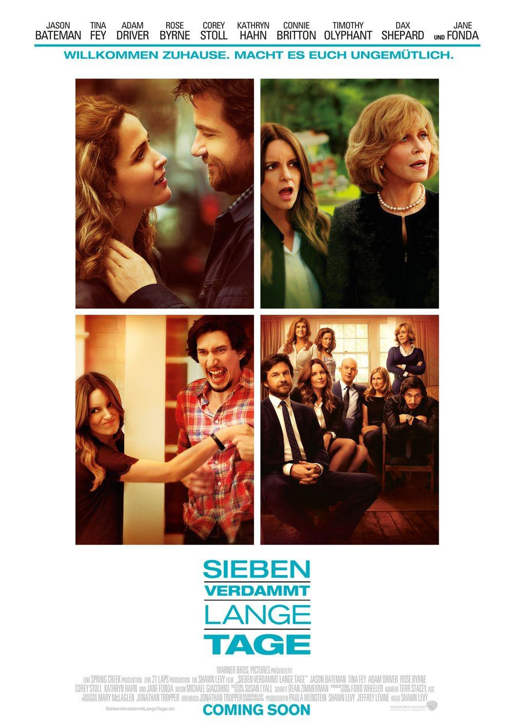 This is where I leave you - Welcome Home - Get Uncomfortable - Jason Bateman - Tina Fey - Adam Driver - Rose Byrne - Corey Stoll - Kathryn Hahn - Connie Britton - Timothy Olyphant - Dax Shepard - Jane Fonda