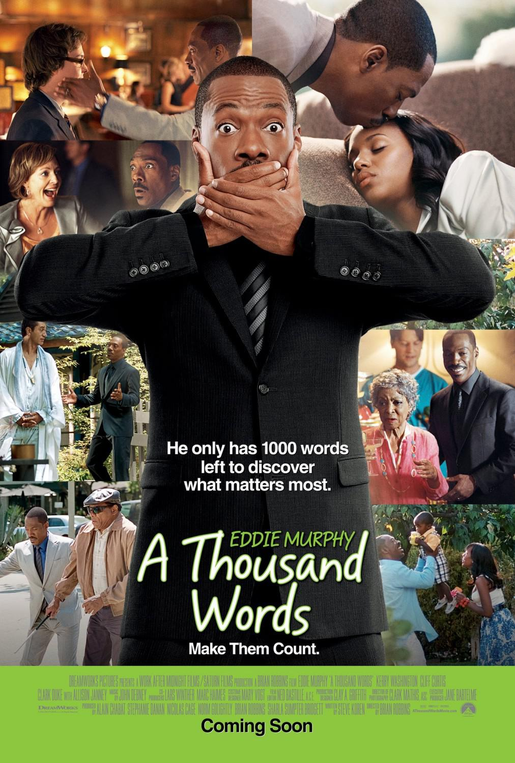 Thousand words - Eddie Murphy - he only have 1000 words left to discover what matters most