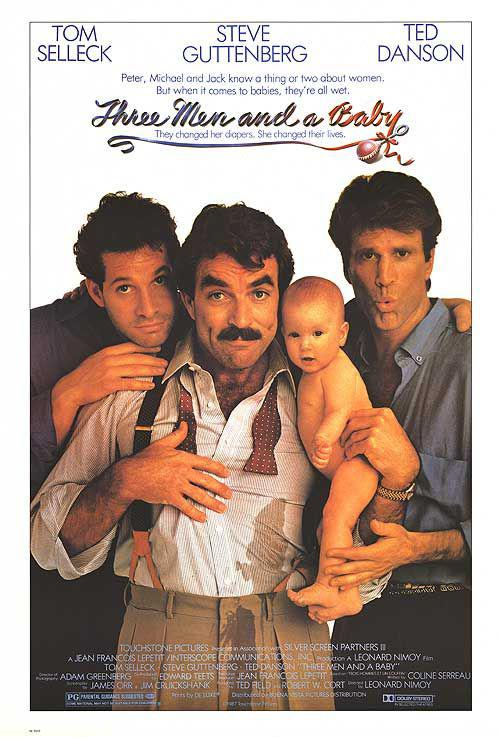 Tre uomini e una culla - Three Men and a Baby - Tom Selleck - Steve Guttemberg - Ted Danson