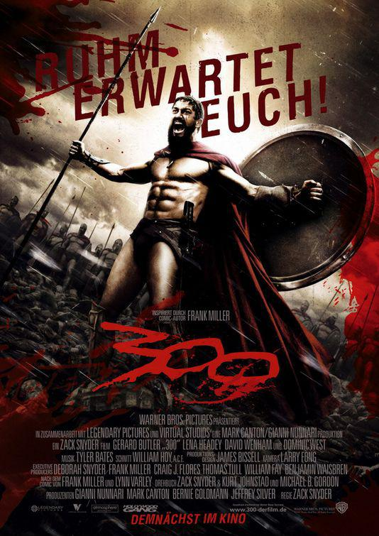 300 - Three hundred - film poster - Leonida king of Sparta  - ruhum erwartet euch