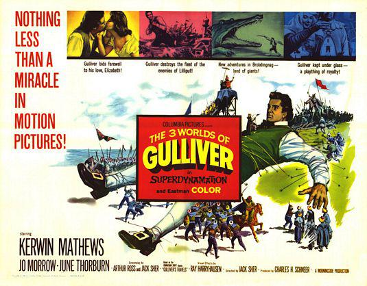 I 3 Mondi di Gulliver - Three worlds of Gulliver film del 1960 con Kerwin Mathews