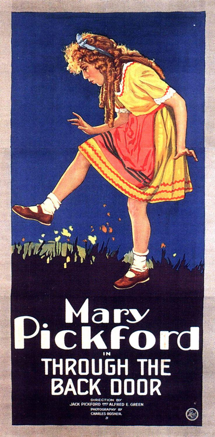 Through the back Door - Mary Pickford - old poster