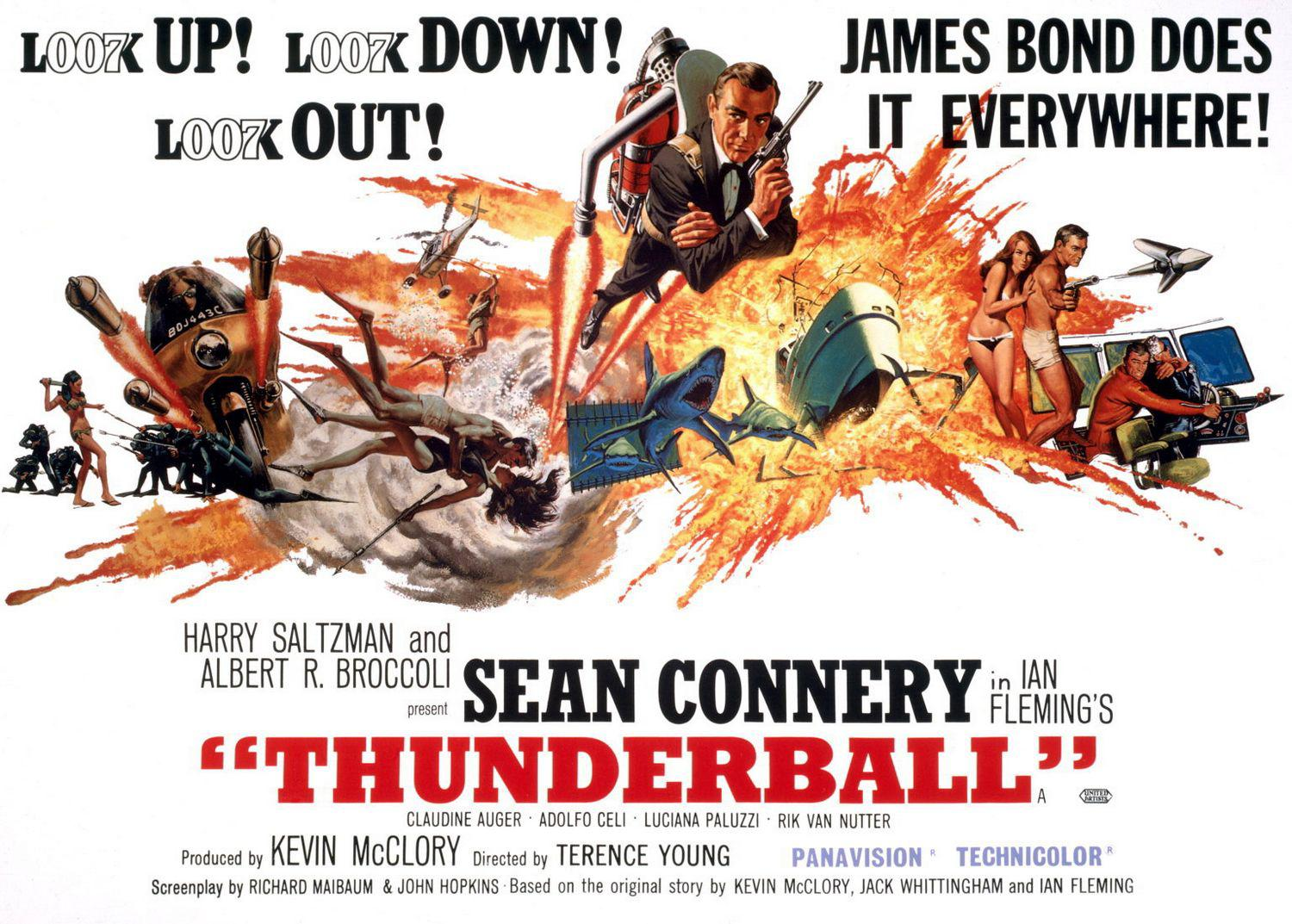 1965 - 007 Thunderball: Operazione Tuono - L007k up Loo7 down Look out