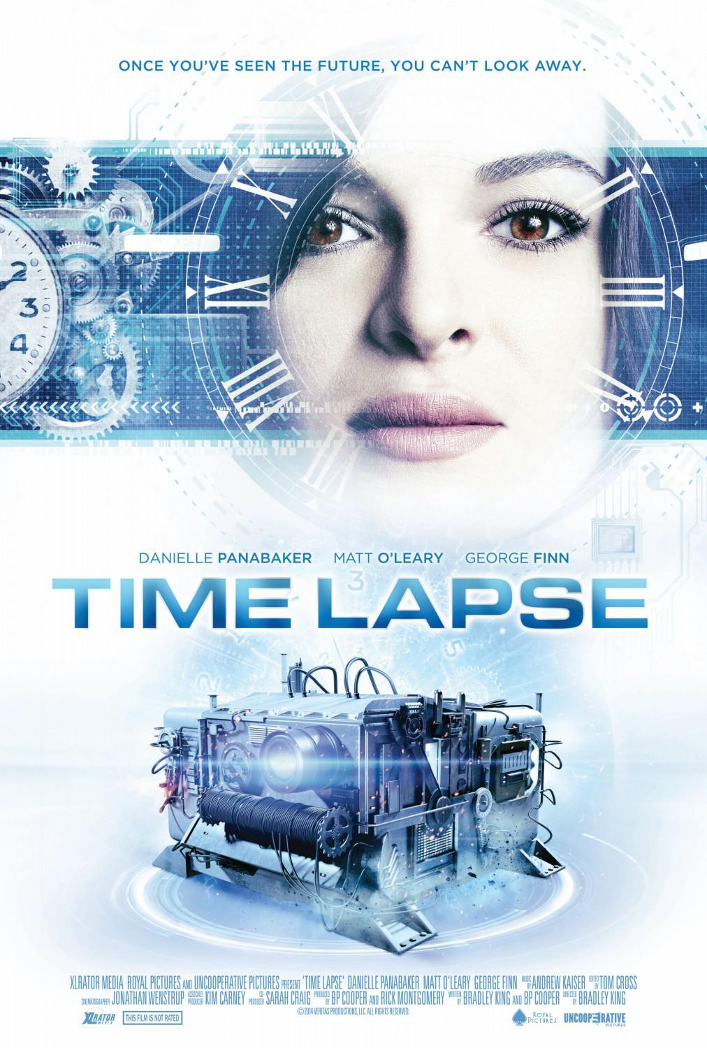 Time Lapse - scifi film poster - Once you've seen the Future, you can't look away - Danielle Panabaker - Matt O'Leary - George Finn