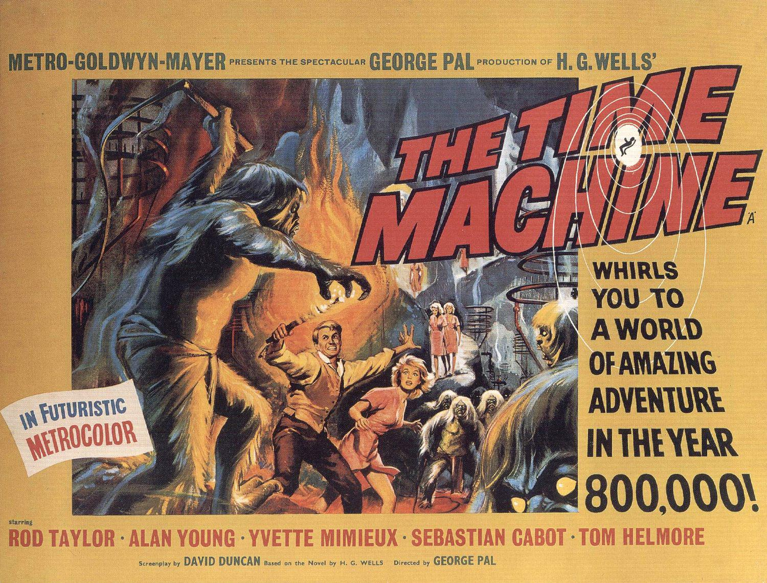 Time Machine - film del 1960 - old scifi movie poster - H.G.Wells