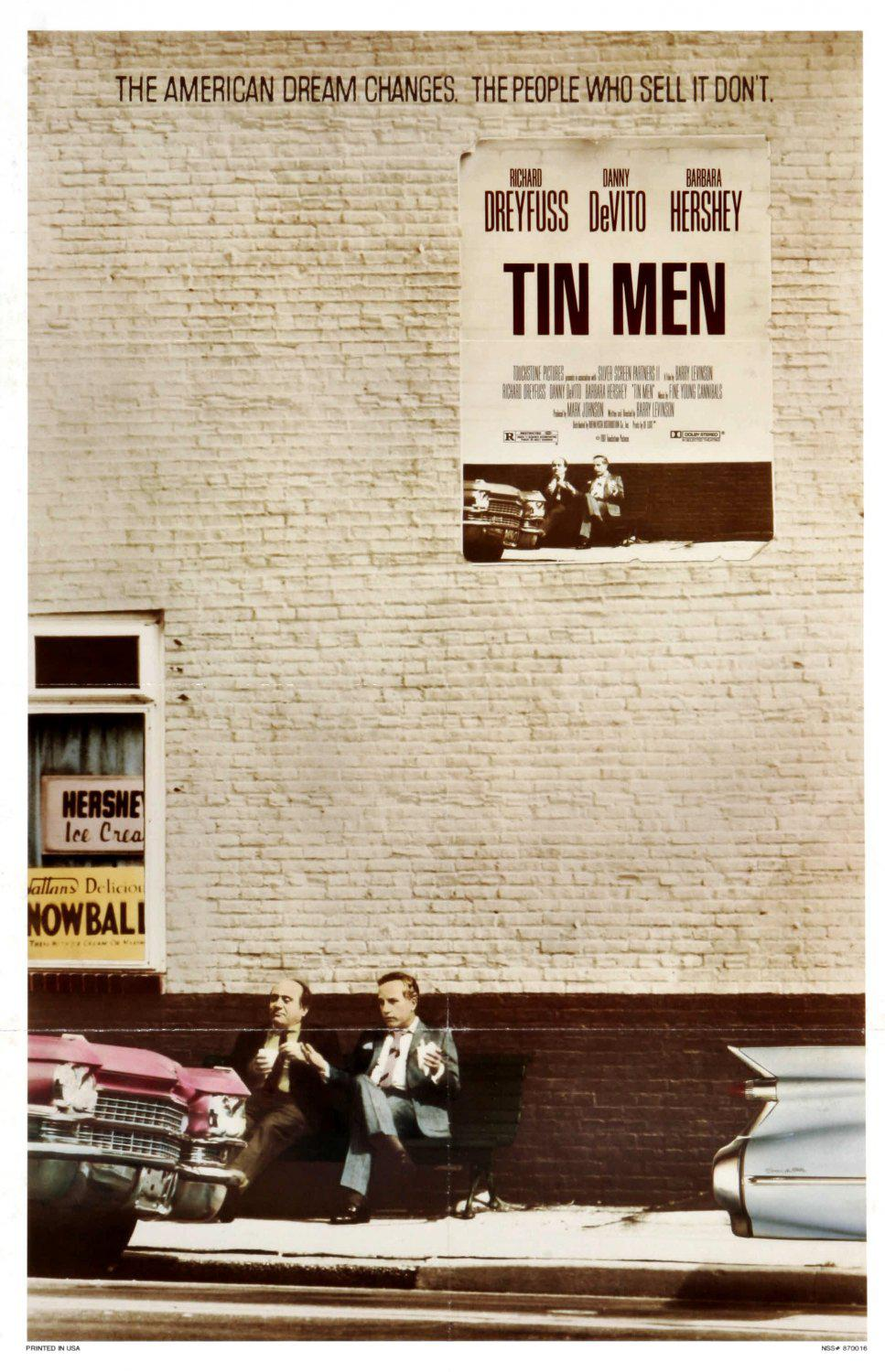 Tin Men 2 imbroglioni con Signora - the American Dream changes, the People who sell it don't - Richard Dreyfuss - Danny DeVito - Barbara Hershey