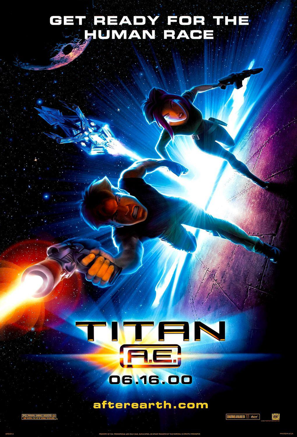 Titan AE - animated film - Get ready for the Human Race - poster