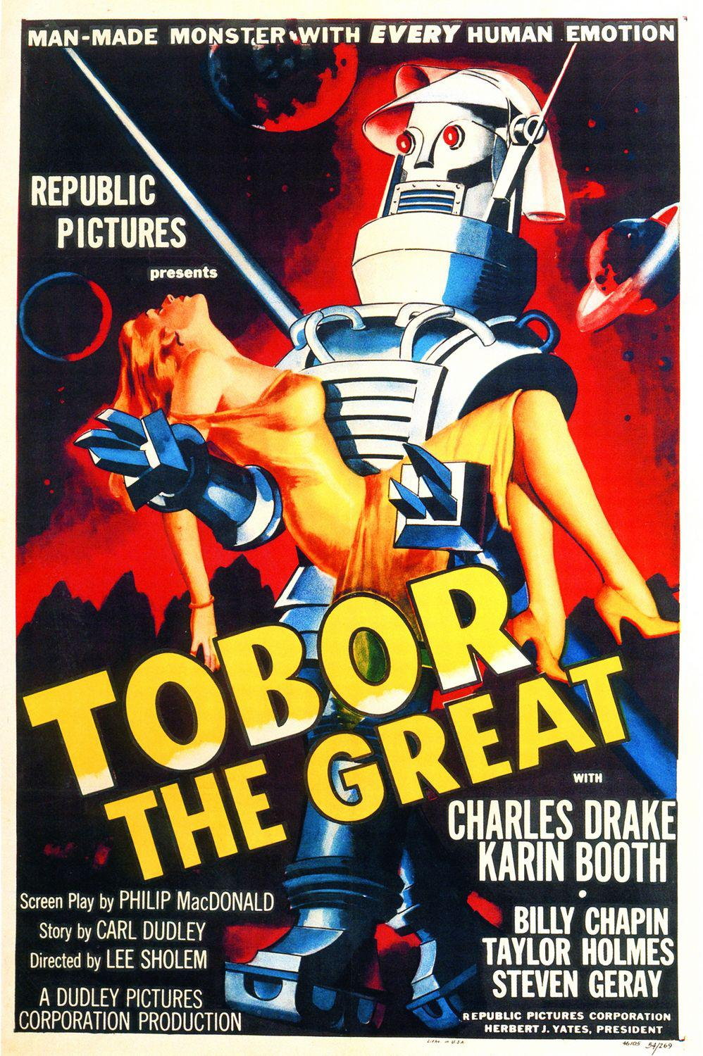 Film - Tobor the great - Robot Tobor - Man-made Monster with every human emotion