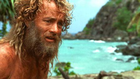 Tom Hanks - moderno Robinson Crusoe in Cast away