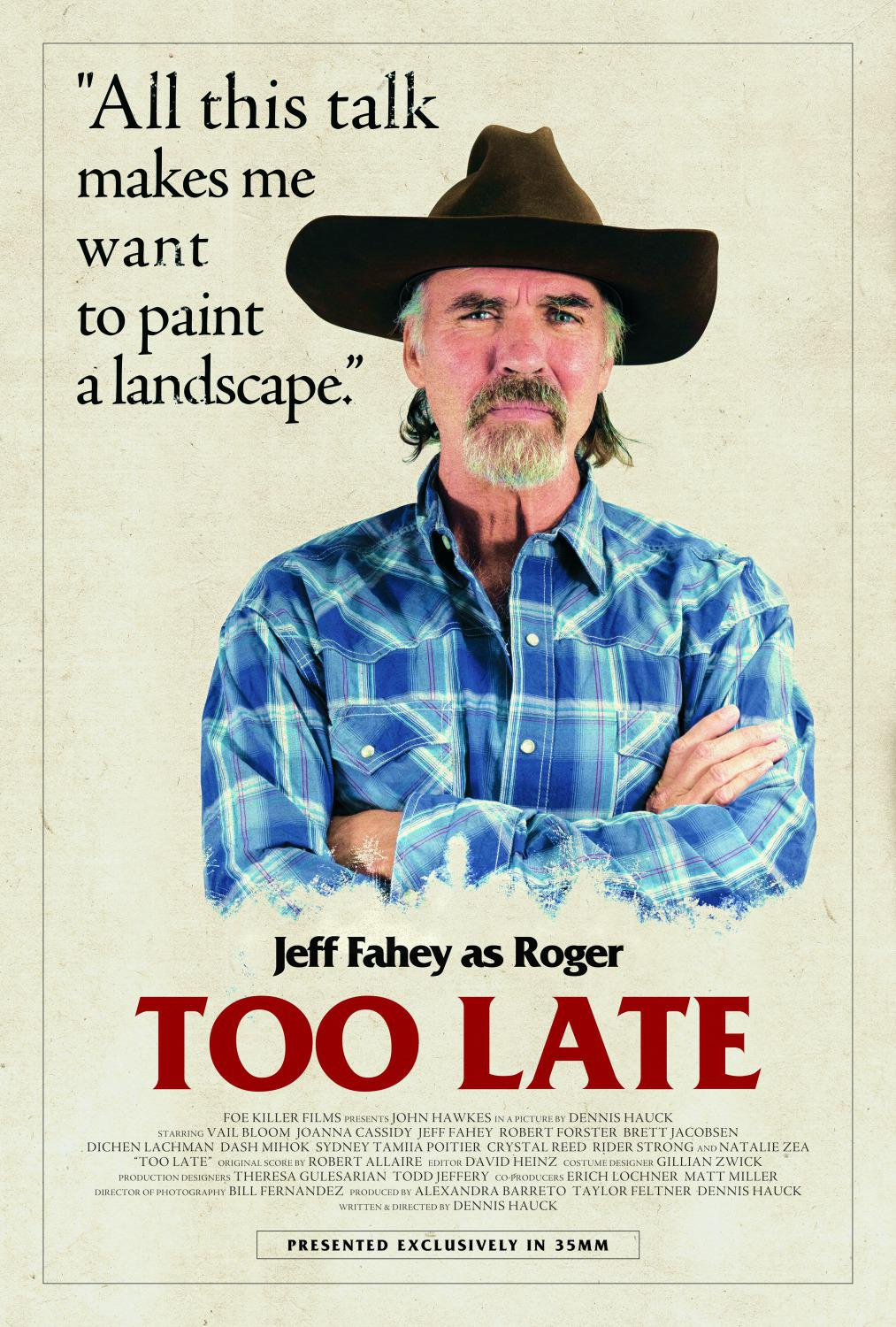Troppo Tardi - Too Late - Jeff Fahey as Roger