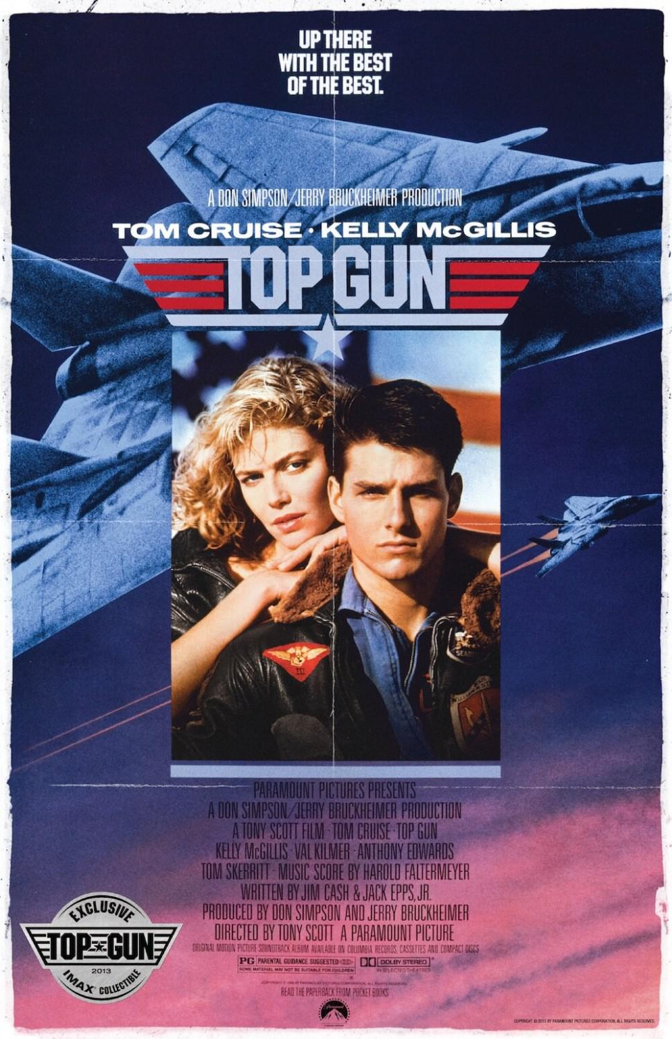 Top Gun - up there with the best of the best - Tom Cruise - Kelly McGillis