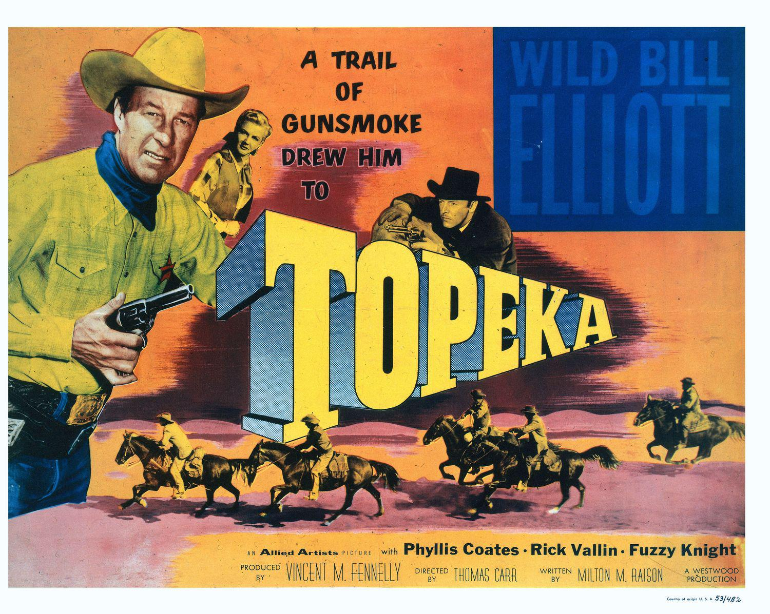Topeka - a trail of gunsmoke - Drew Him - Phyllis Coates - Rick Vallin - Fuzzy Knight