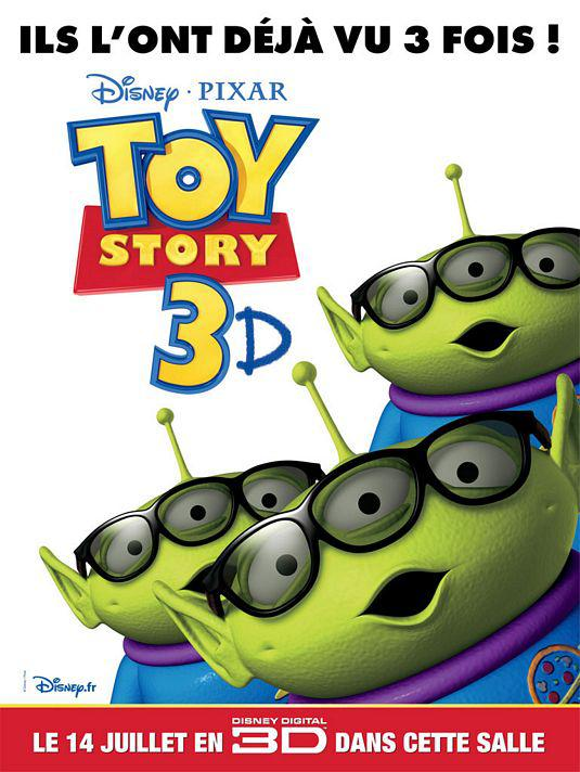 Toy Story 3 - poster -  Aliens 3D