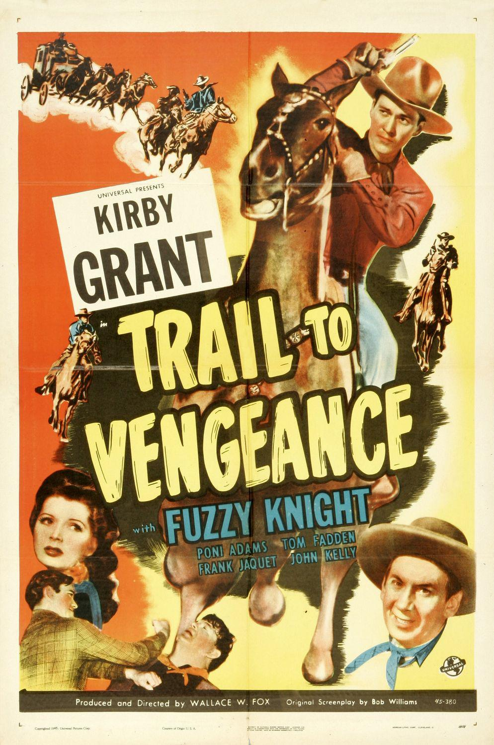 Trail to Vengeance - Kirby Grant - Fuzzy Knight
