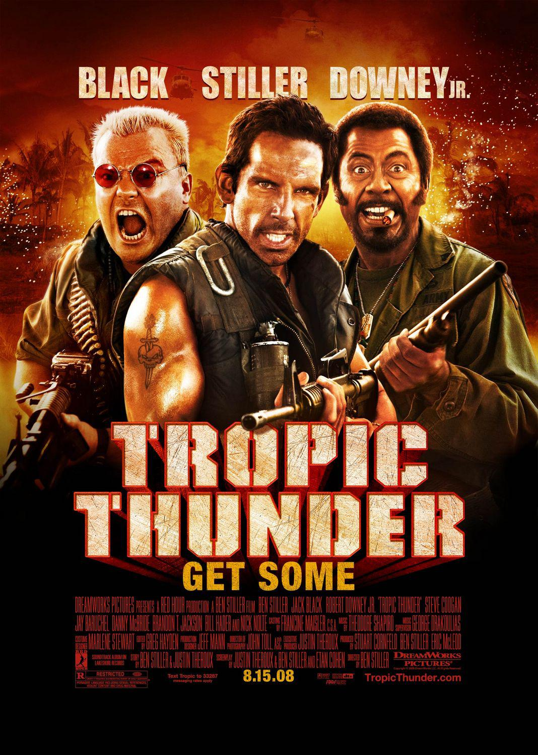 Tropic Thunder - Black - Ben Stiller - Robert Downey Jr