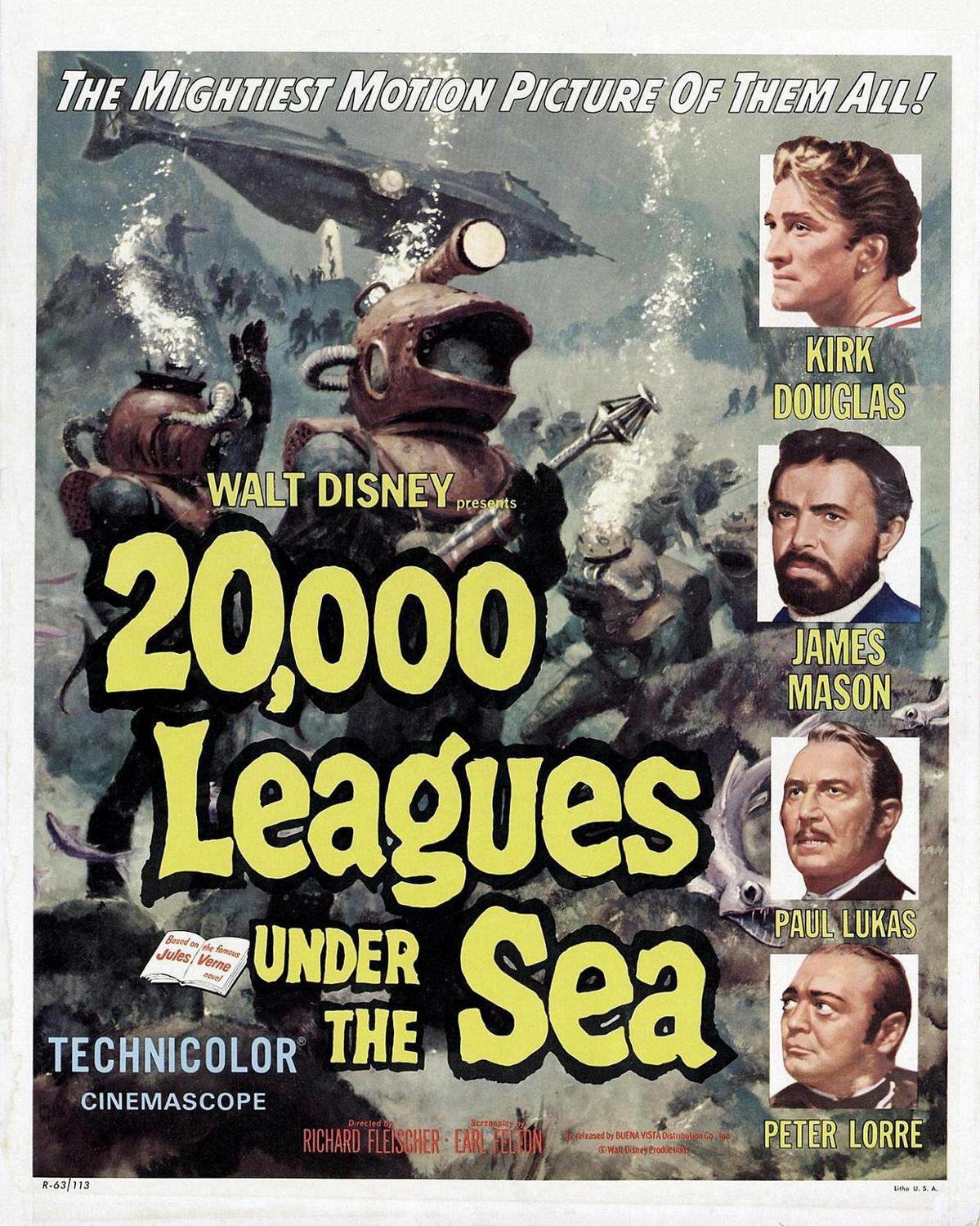 20000 Leghe sotto i Mari - Twenty thousand Leagues under the Sea - Want Disney present Giulio Verne - Kirk Douglas - James Mason