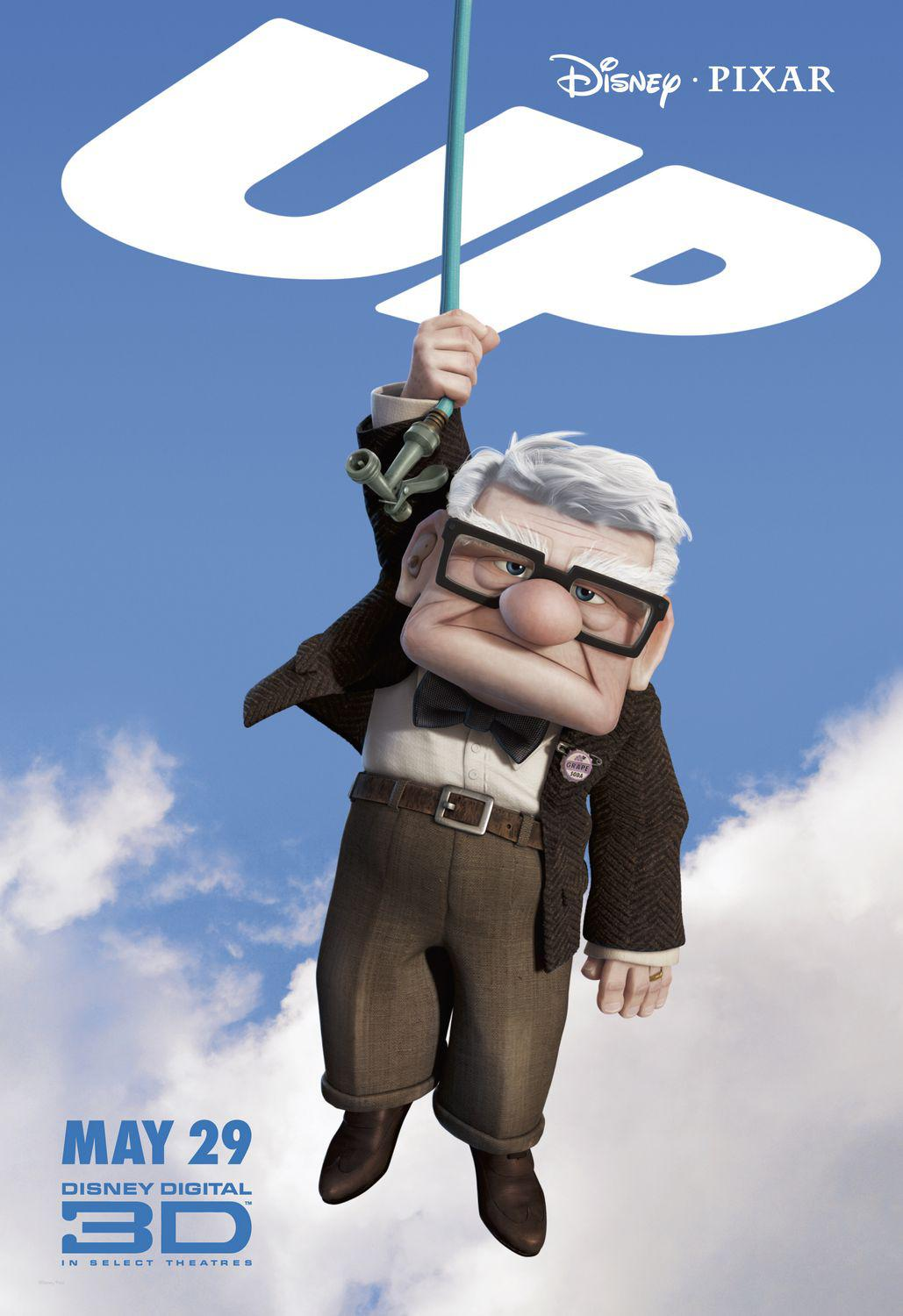UP - Disney Pixar animated film poster - Carl Fredricksen
