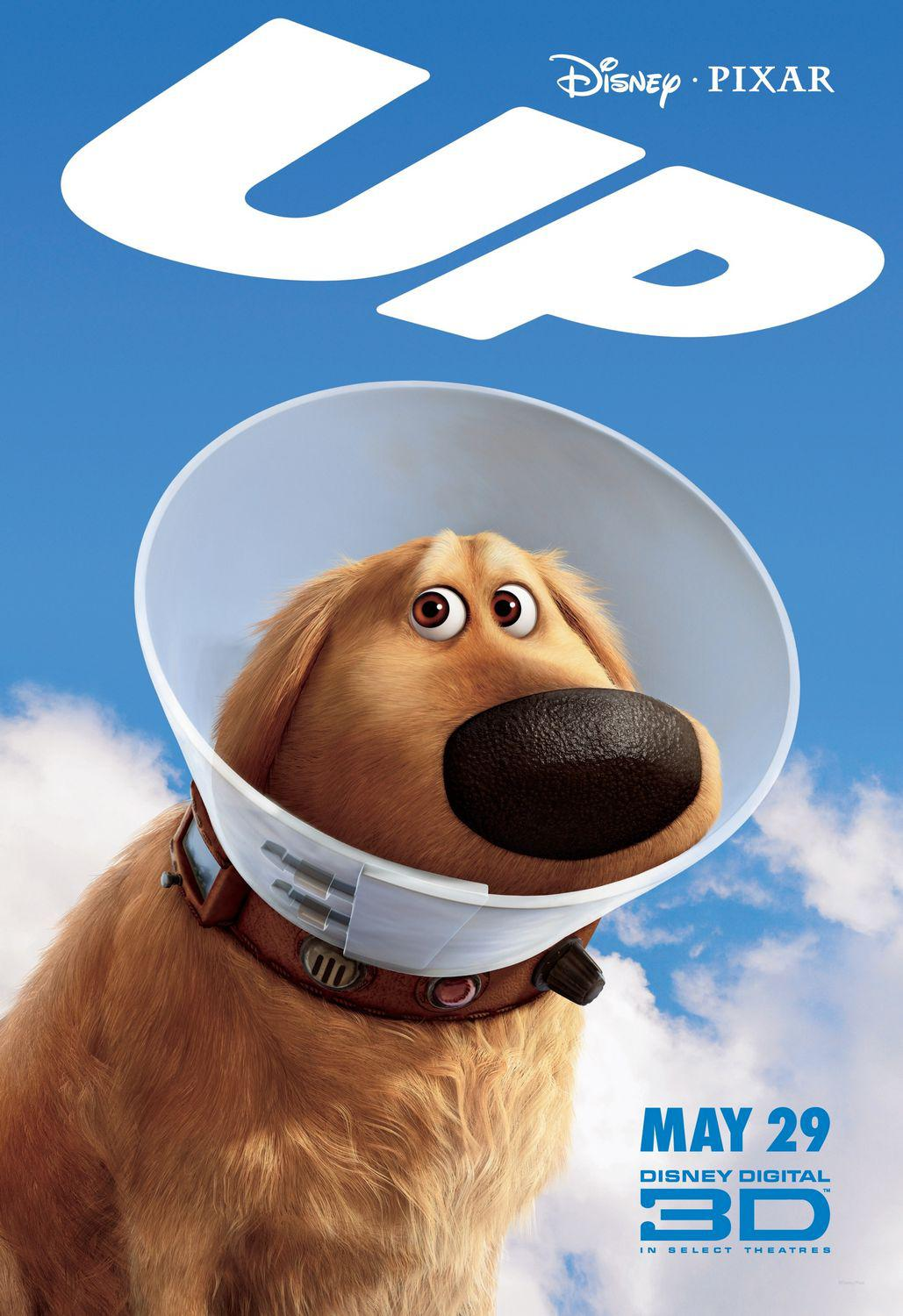 UP - Disney Pixar animated film poster - dog