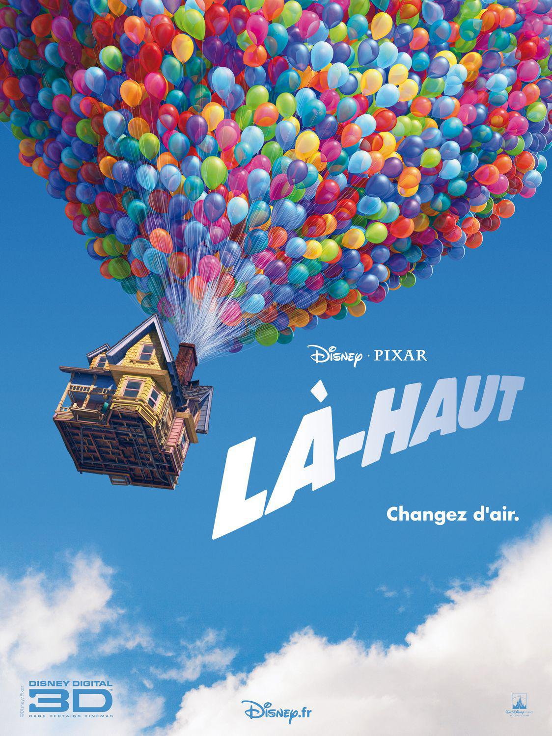 UP - Disney Pixar animated film poster - house  - Là Haut