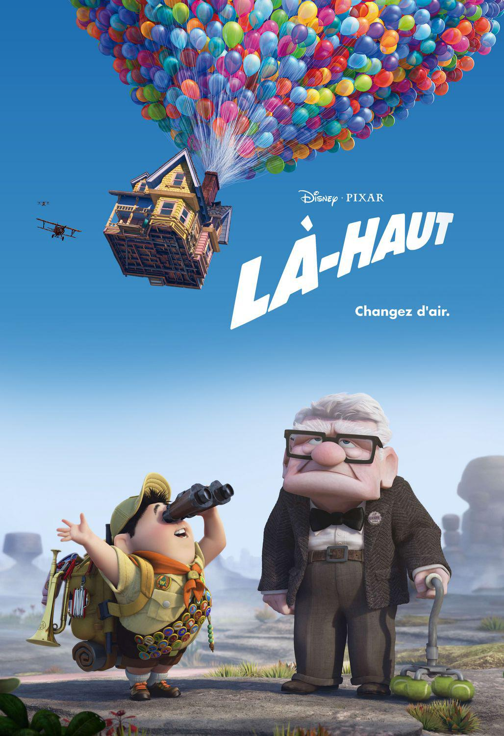 UP - Disney Pixar animated film poster - Carl Fredricksen - Russell  - Là Haut