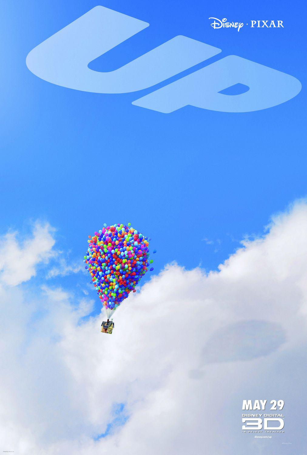 UP - Disney Pixar animated film poster - house