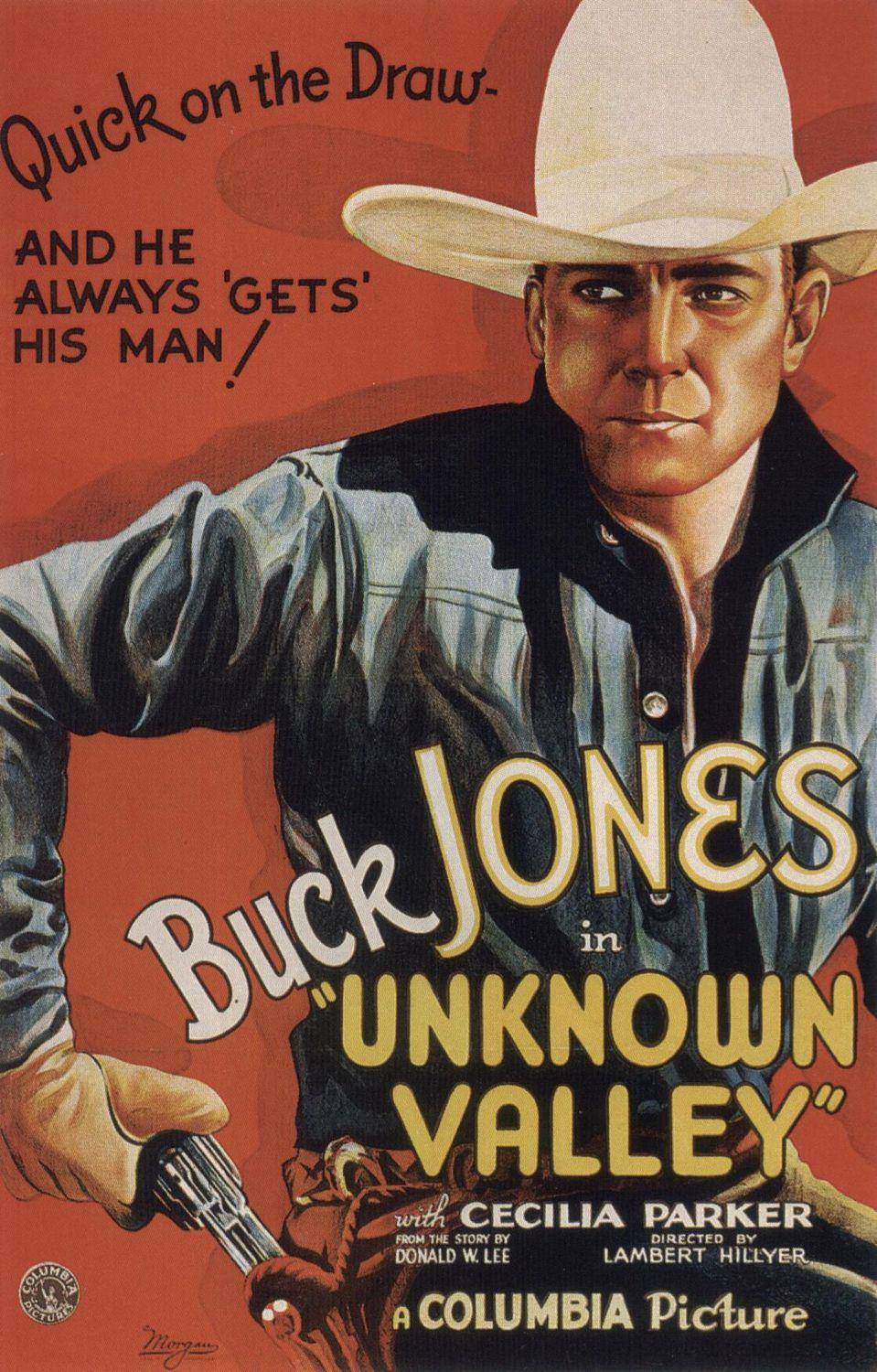 Unknown Valley - Buck Jones - old western poster