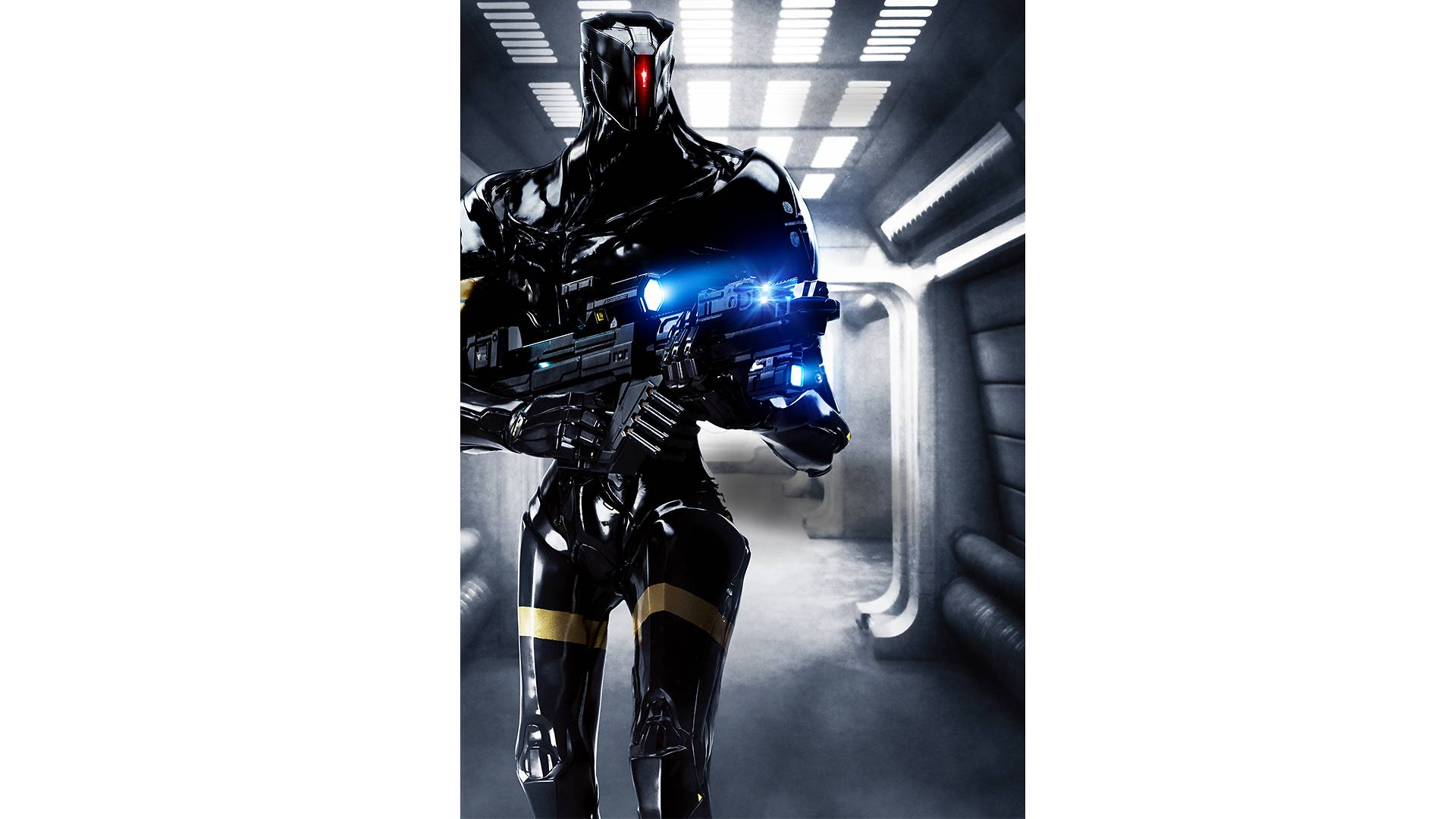 Valerian - alien species: K-Tron RoboCops black robots
