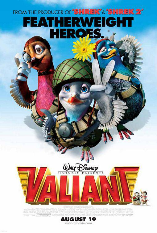 Valiant - pigeons animated movie poster