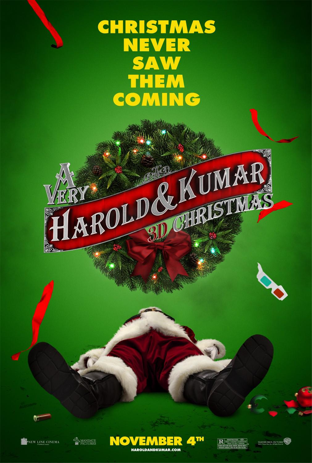Very Harold and Kumar Christmas - Un Natale da Ricordare - Christmas never saw them coming - poster
