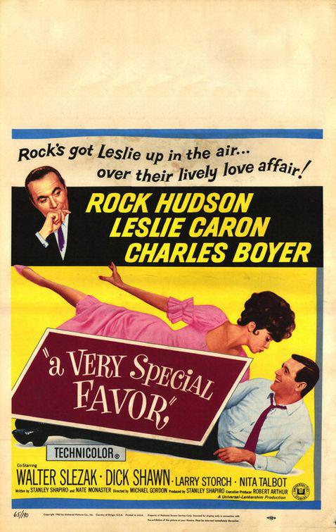 Very Special Favor - Rock's got Leslie up in the air, over their lively love affair - Rock Hudson - Leslie Caron - Charles Boyer