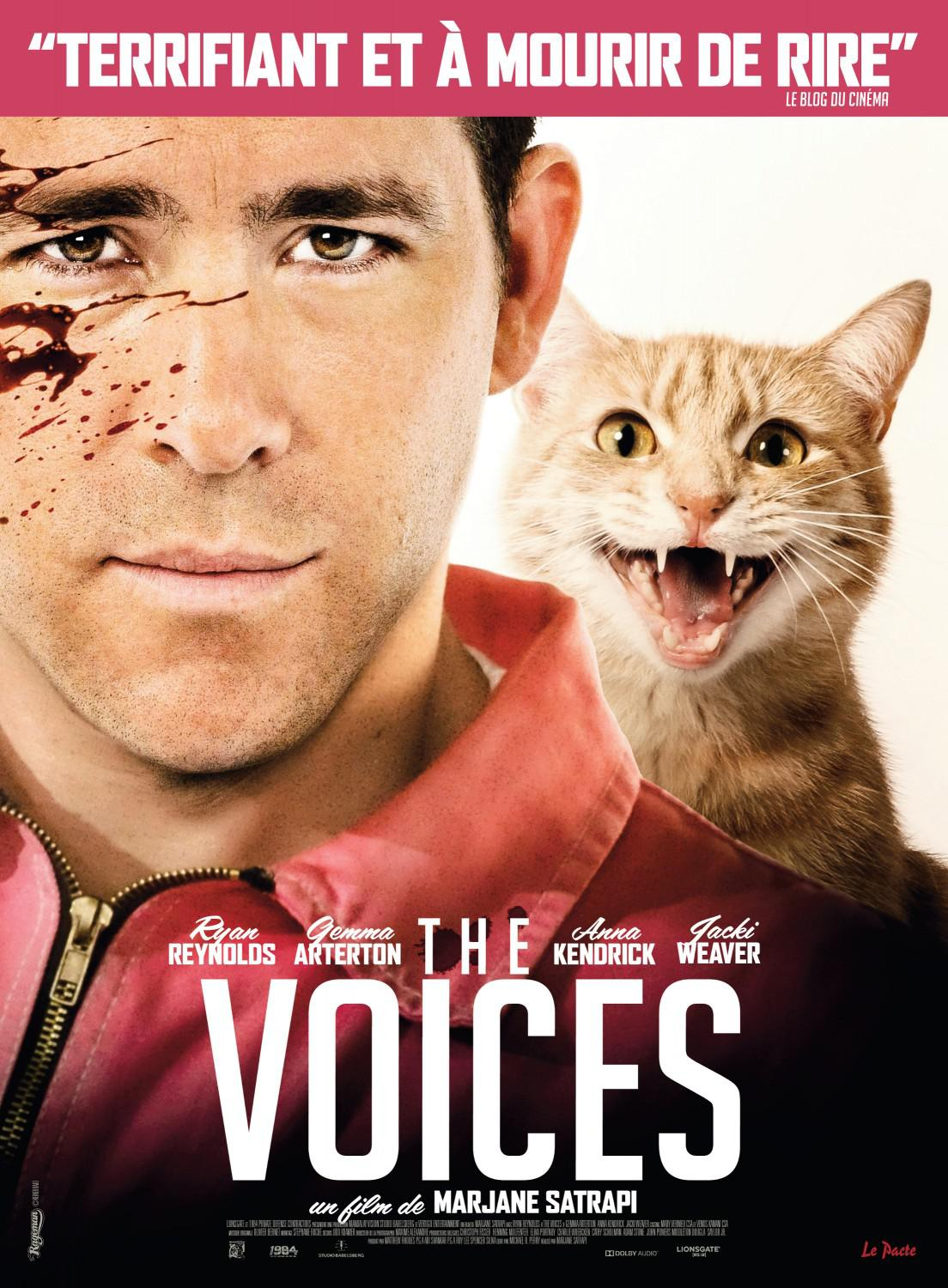Film - The Voices con Ryan Reynolds - poster  - cat