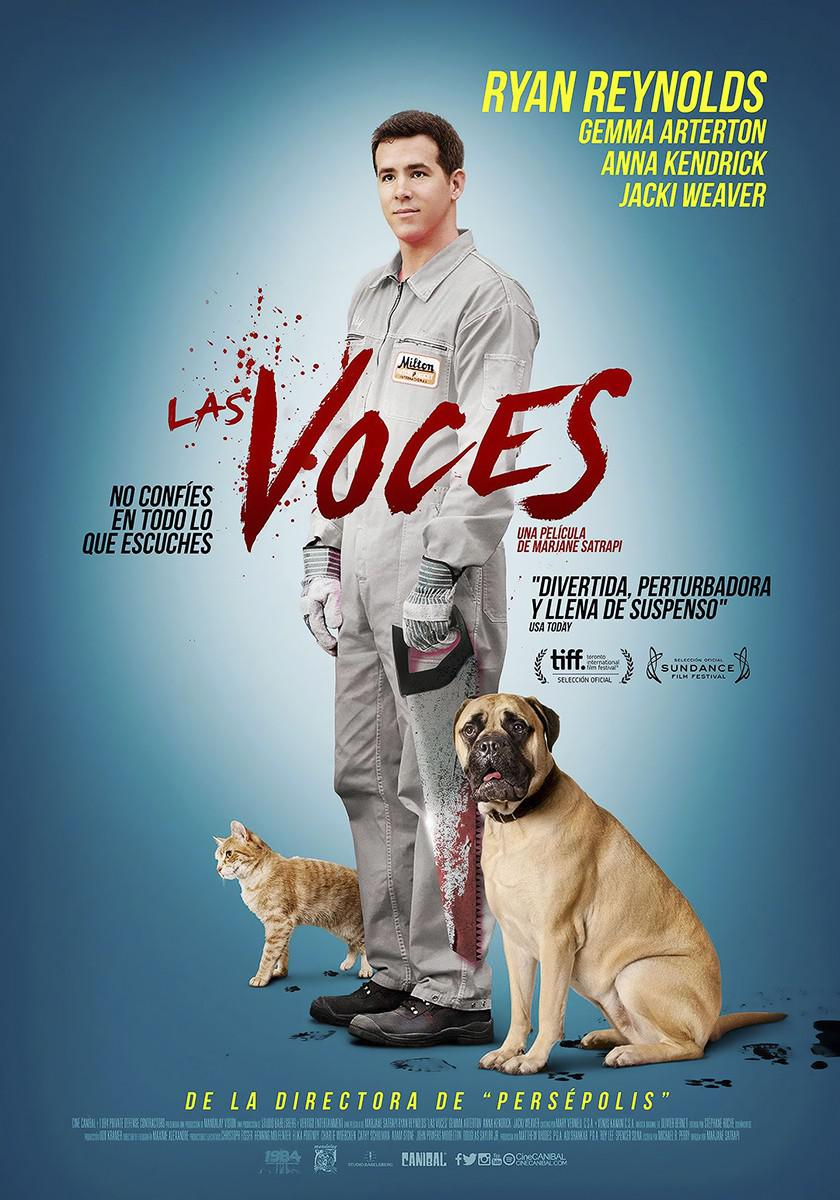 Film - The Voices con Ryan Reynolds - poster