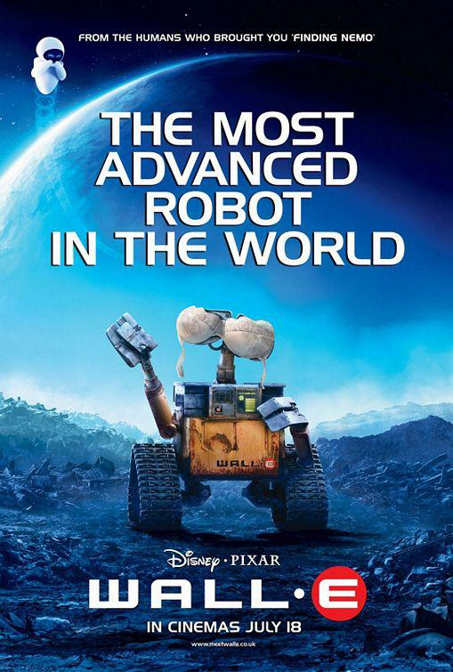 Wall E - Disney Pixar film poster