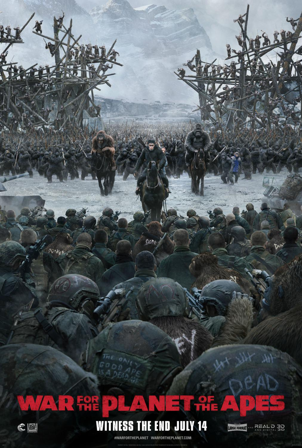 Apes 9 - The War - Il Pianeta delle Scimmie - War for the planet of the Apes (2017)  - poster