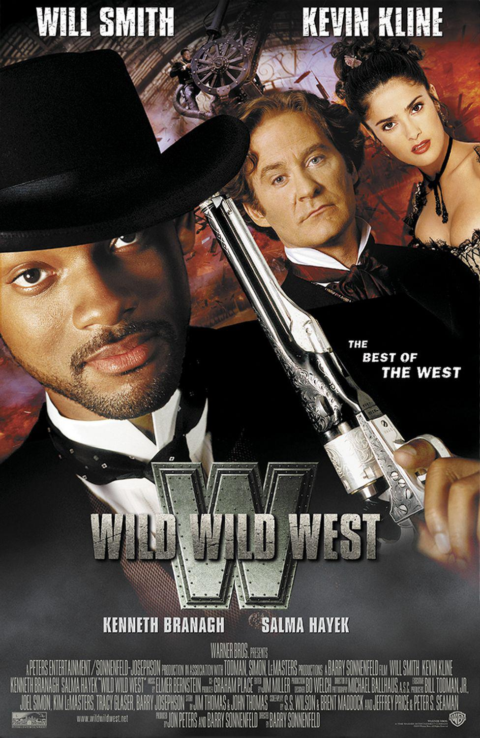Wild Wild West - Will Smith - Kevin Kline - Kenneth Branagh - Salma Hayek - film poster - Steampunk