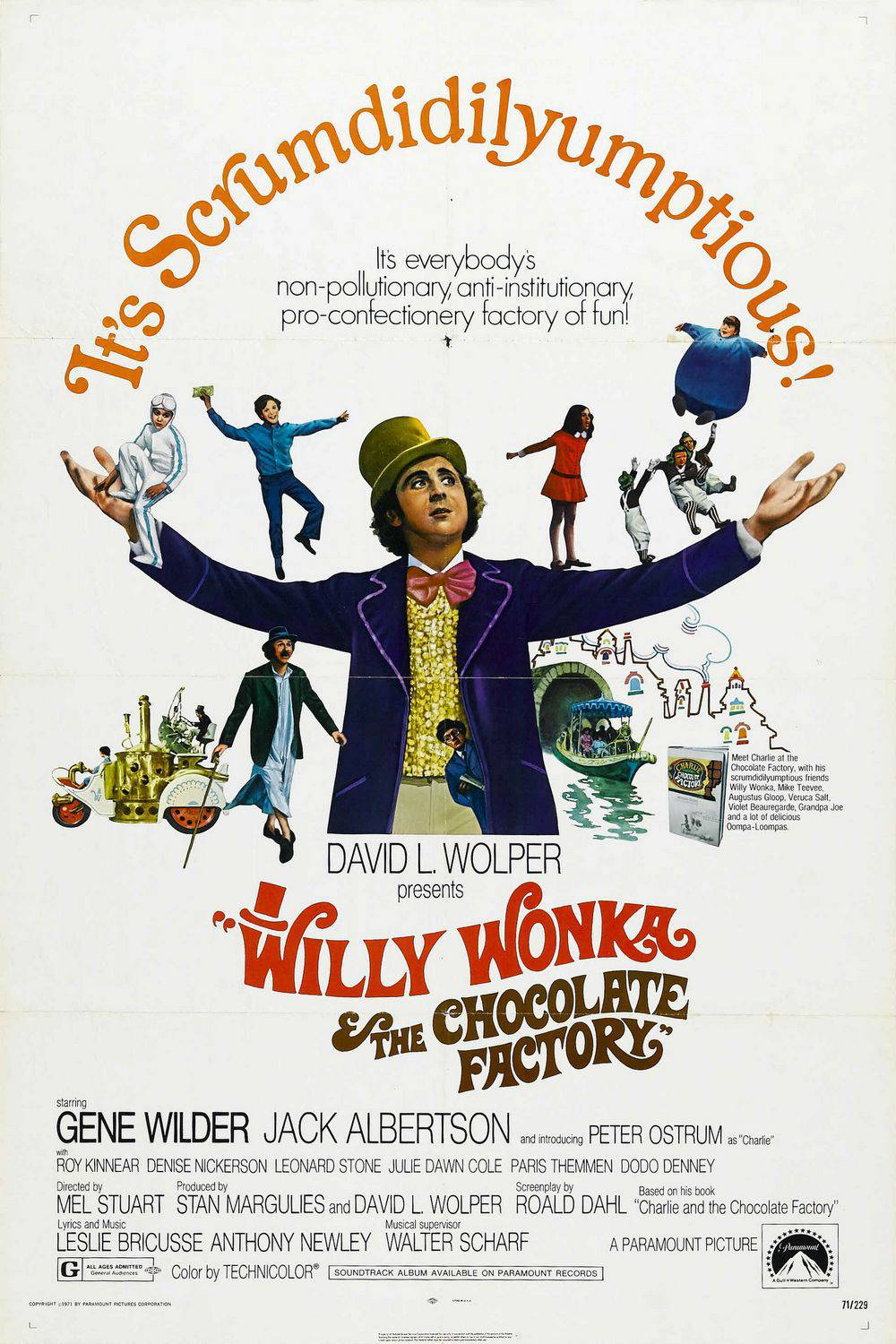 Willy Wonka and the chocolate factory - film classico del 1971 con Gene Wilder ...
