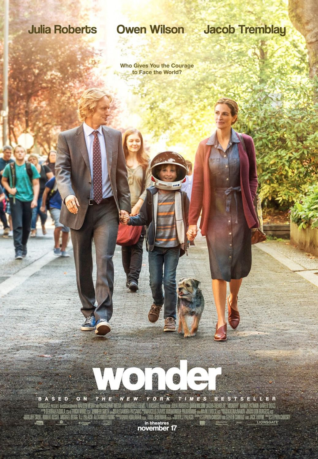 Wonder - Who gives you the courage to face the world - by Stephen Chbosky - Jacob Tremblay, Julia Roberts, Owen Wilson, Daveed Diggs