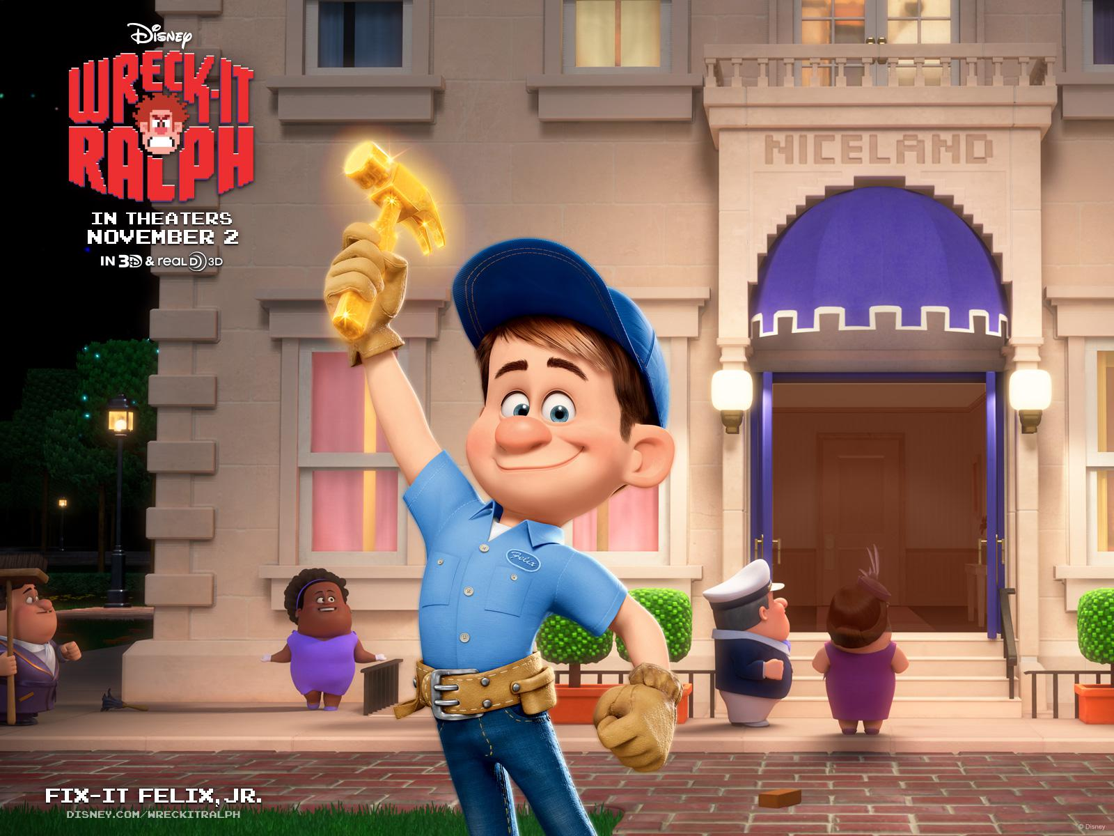 Ralph Spaccatutto - Wreck it Ralph - Fix-it Felix poster