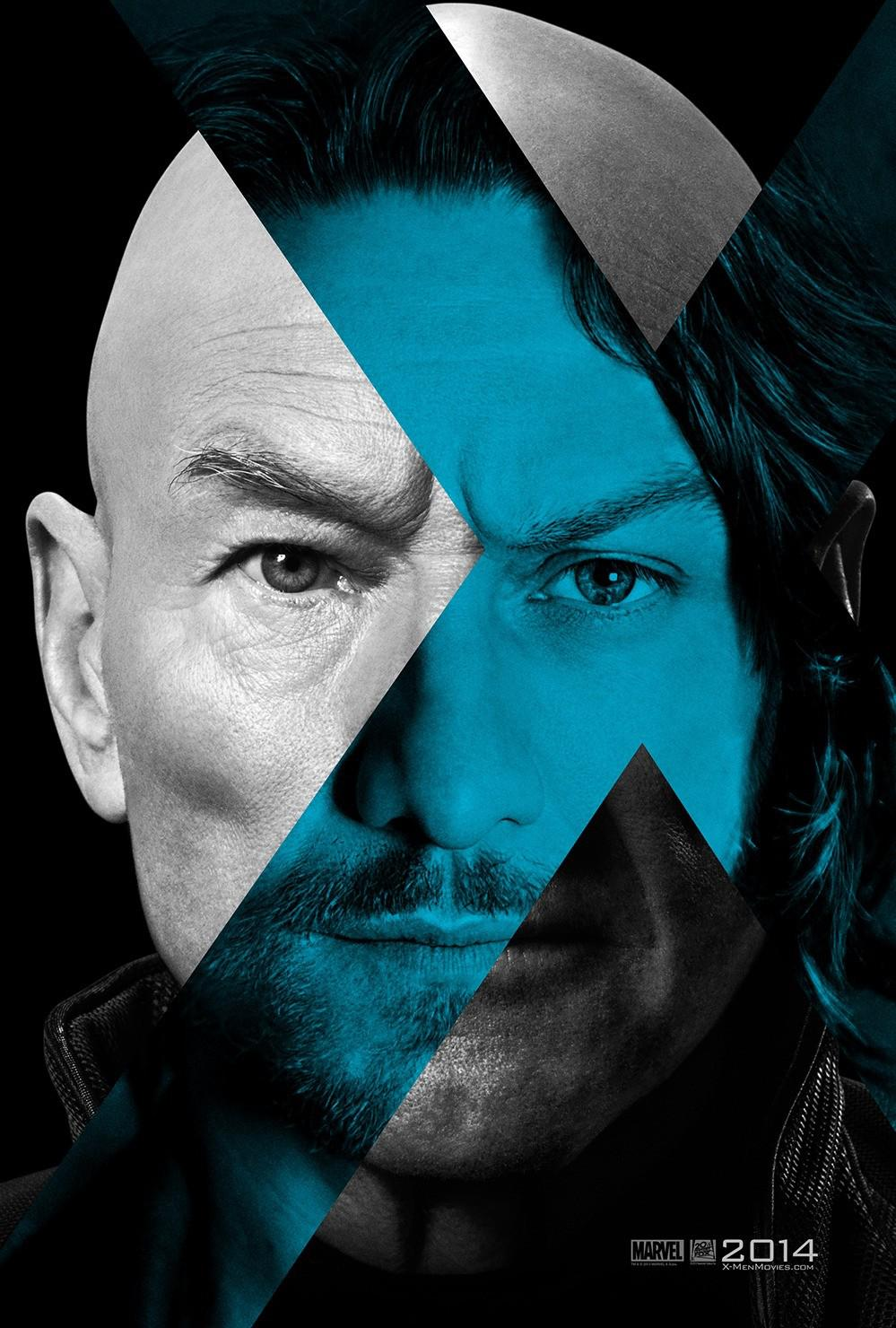 X-Men 6 - X Men Giorni di un Futuro Passato - Days of Future Past - young Professor Xavier (James McAvoy) - old Professor Xavier (Patrick Stewart)