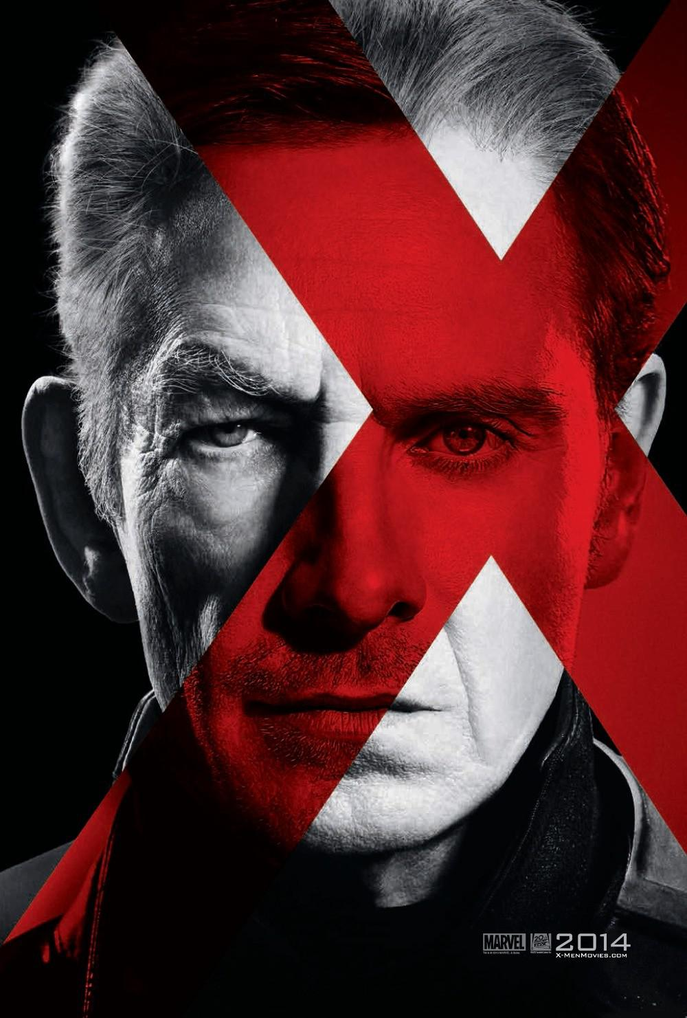 X-Men 6 - X Men Giorni di un Futuro Passato - Days of Future Past - young Magneto (Michael Fassbender) - old Magneto (Ian McKellen)