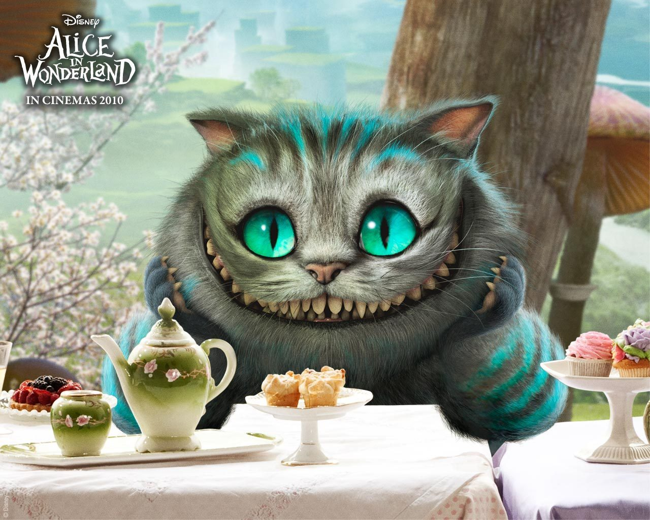 Alice in Woderland - cat - Stregatto